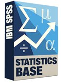 SPSS Base Statistics Software Box