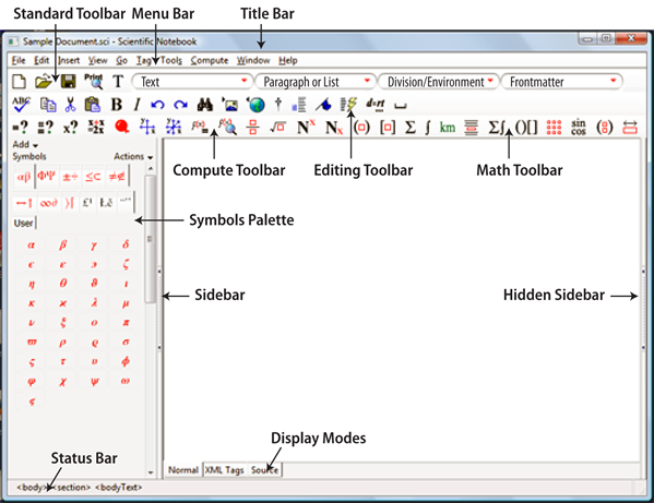 Scientific Notebook 6 Screenshot