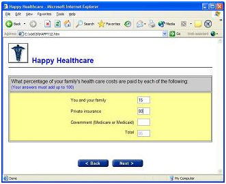 An example of our Web Survey Software